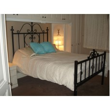 Hand Forged Wrought Iron Double Bed.