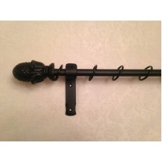 Solid 16mm Acorn Finial Curtain Pole Set