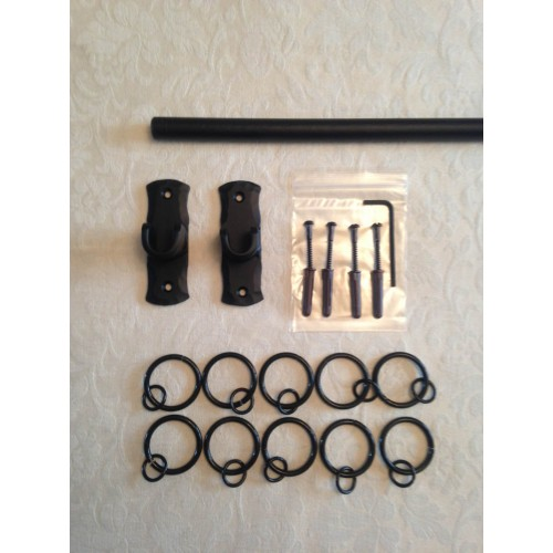 Iron Metal Recessed Curtain Voile Pole Rod Kit With A 16mm
