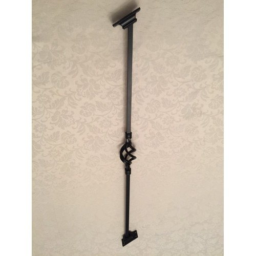 Incroyable 1 X Black Wrought Iron Metal Cage Baluster Balustrade Stair Spindle 1m Long  X 12mm Plain Bars