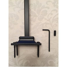 Black Flat Design Baluster Balustrade Stair Shoe Brackets to fit 16mm Square Iron Bars